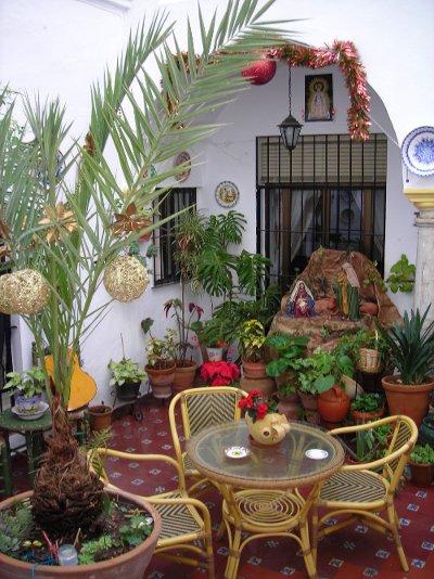Belén en el patio andaluz (Arcos de la Frontera - Cadiz)