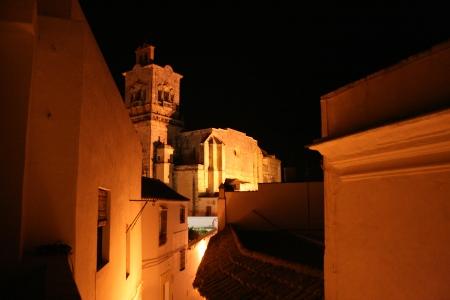 Vista de la Iglesia San Pedro desde la habitación doble con terraza. Realizada por un cliente extranjero alojado.